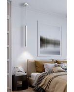 Varas LED Single White Pendant Light 373075