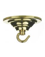ACC5 Single Hook Plate - Polished Brass