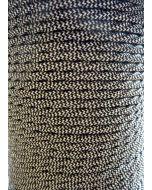 Black And White Herringbone Twisted Braided 3 Core Flex In 1 Metre Lengths