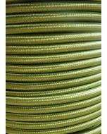 Cypress Green Round Braided 3 Core Flex In 1 Metre Lengths