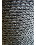 Grey Twisted Braided 3 Core Flex In 1 Metre Lengths