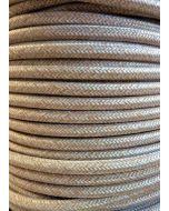 Linen Colour Round Braided 3 Core Flex In 1 Metre Lengths