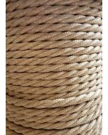 Linen Colour Twisted Braided 3 Core Flex In 1 Metre Lengths