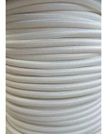 White Round Braided 3 Core Flex In 1 Metre Lengths