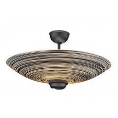 SWF5822 Swirl 2 Light Semi Flush - Black