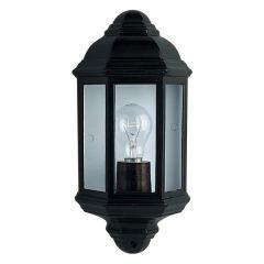 280BK Flush Outdoor Wall Light - Black