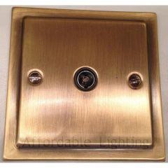 TAB35B Trimline 1 Gang TV Coax Socket - Antique Bronze