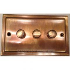 TAB13 Trimline 3 Gang 400w Dimmer Switch - Antique Bronze