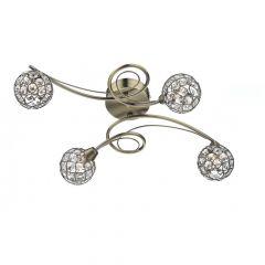 CIR0475 Circa 4 Light Flush - Antique Brass