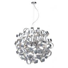 Rawley 12 Light Ribbon Pendant Ceiling Light Brushed Aluminium Finish RAW1250