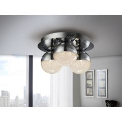 Sphere LED 3 Light Chrome Flush Ceiling Light 794017