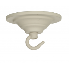 ACC2 Single Hook Plate - Cotswold Cream