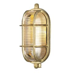 Admiral Single Light Outdoor Wall Light In Brass ADM5240