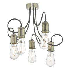 Alzbet 5 Light Industrial Style Semi Flush ALZ5475