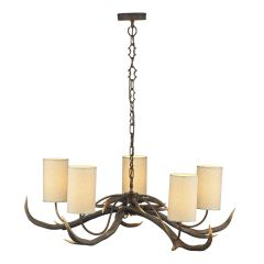 ANT0529S Antler 5 Light Pendant With Shades
