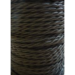 Black Twisted Braided 3 Core Flex In 1 Metre Lengths