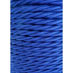 Royal Blue Twisted Braided 3 Core Flex In 1 Metre Lengths
