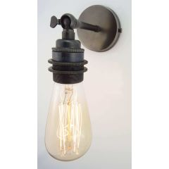 Bronze Small Straight Arm Wall Light With Threaded Lampholder - Broughton