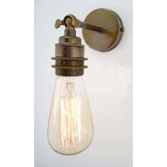 Old English Brass Small Straight Arm Wall Light With Threaded Lampholder - Broughton