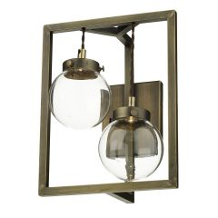 Chiswick 2 Light LED Wall Light In Antique Brass CHI0975