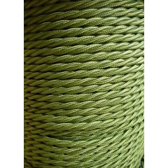 Green Twisted Braided 3 Core Flex In 1 Metre Lengths