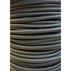 Grey Round Braided 3 Core Flex In 1 Metre Lengths