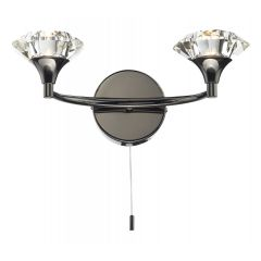 LUT0967 Luther Double Wall Light - Black Chrome