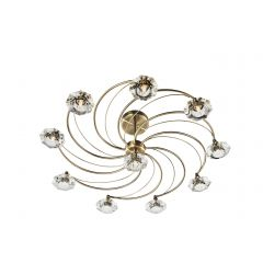 LUT2375 Luther Ceiling 10 Light - Antique Brass