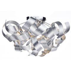 Rawley 4 Light Ribbon Flush Ceiling Light in Brushed Aluminium RAW0450