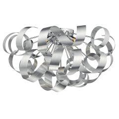Rawley 5 Light Ribbon Flush Ceiling Light In Brushed Aluminium RAW0550