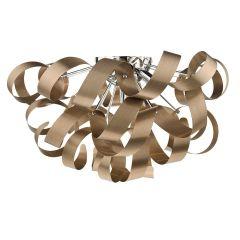 Rawley 5 Light Ribbon Flush Ceiling Light In Brushed Copper RAW0564
