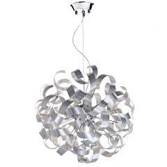 Rawley 9 Light Ribbon Pendant Ceiling Light in Brushed Aluminium RAW1350