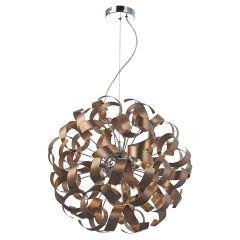 RAW1364 Rawley 9 Light Ribbon Ceiling Light Brushed Copper