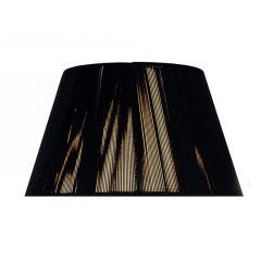 "MS041 Black Silk String Shade 16"""