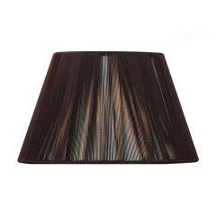 "MS042 Dark Brown Silk String Shade 16"""