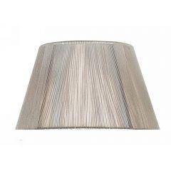 """MS043 Silver Grey Silk String Shade 16"""""""